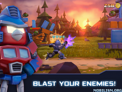 Angry Birds Transformers v1.12.1 [Mod Coins/God Mode/Unlock] Apk