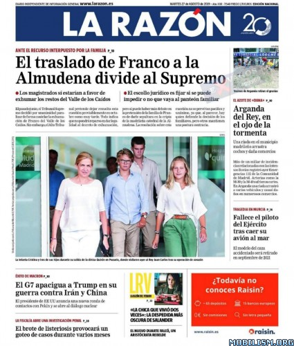 La Razón – 27 August, 2019 [ESP]