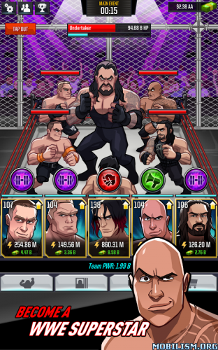 WWE Tap Mania v1.0 Mod [Unlimited Gold] Cracked Apk