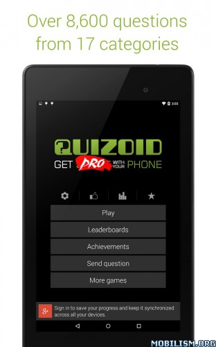 Quizoid Pro: Category Trivia v2.2.1 Apk