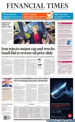 Download ebook Financial Times – 28 September 2016 / UK (.PDF)