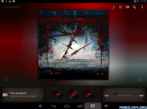 Poweramp Brown with Red Skin apk v1 2 ~ NEXTAPP Android Apk