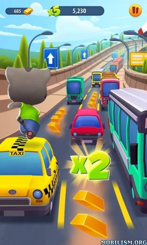 Talking Tom Gold Run v1.1.0.111 [Mod] Apk