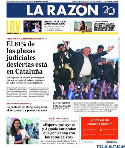 La Razón – 13 August, 2019 [ESP]