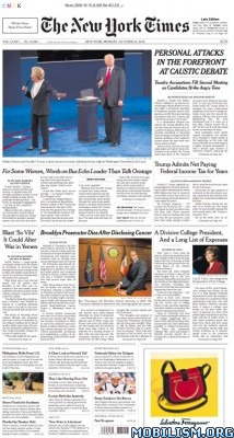 Download ebook The New York Times – 10 October 2016 / USA (.PDF)