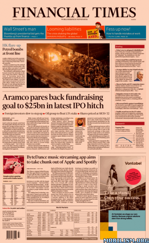 Financial Times Europe – 18 November 2019