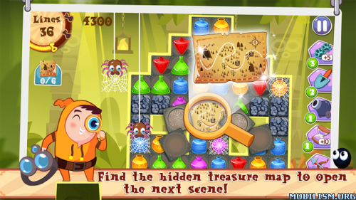 King Of Crush : Lost Treasure v1.8 [Mod Coins] Apk