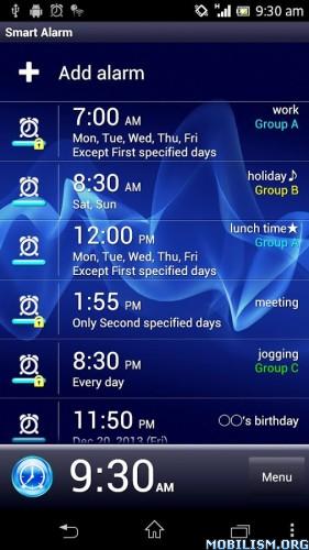 ?dm=B9MK Smart Alarm (Alarm Clock) v2.1.9 [Paid] for Android revdl Apps