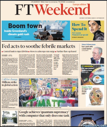 Financial Times Weekend Europe – September 21/22, 2019