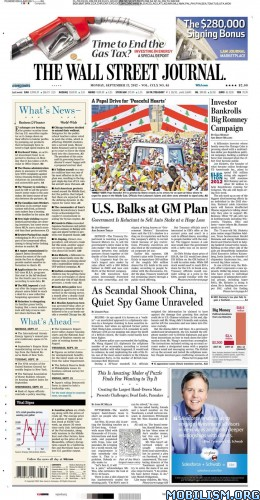 Magazines • The Wall Street Journal – 17 September 2012 (.ePUB)(.MOBi)