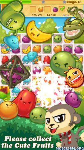 Monkey Fruits Crush v2.0.1 [Mod Gems/Lifes] Apk