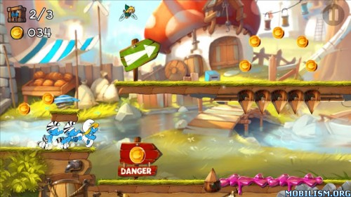 Smurfs Epic Run v1.5.1 [Mod Gold] Apk