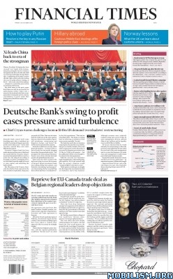 Download ebook Financial Times – 28 October 2016 / Asia (.PDF)