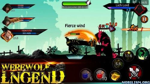 Werewolf Legend v1.7 (Mod Money) Apk