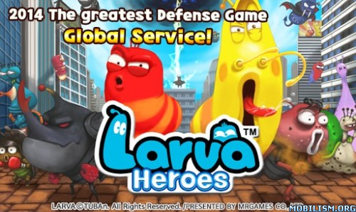 Larva Heroes: Lavengers 2014 v1.5.6 (Unlimited Gold/Candy) Apk