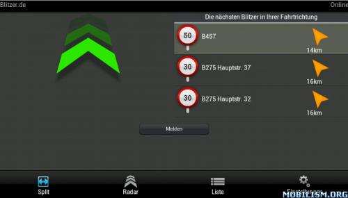 Download CamSam (Blitzer.de PLUS) 2.5.2 APK dal Play Store Android, il miglior programma per le segnalazioni di autovelox e tutor su Android