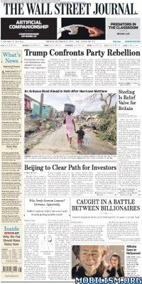 Download ebook The Wall Street Journal – 10 October 2016 / Europe (.PDF)