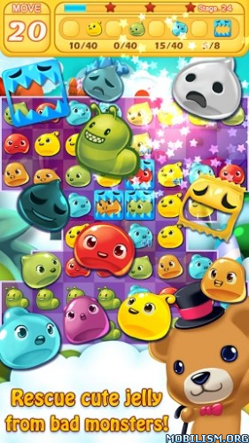 Jelly Jelly Crush - In the sky v2.0.2 [Mod] Apk