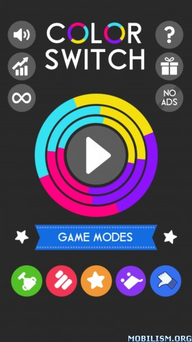 Color Switch v2.3.3 [Mod Stars/All Unlocked/Ads Free] Apk