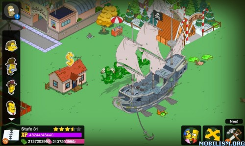 The Simpsons: Tapped Out v4.19.5 (Free Shopping) Apk