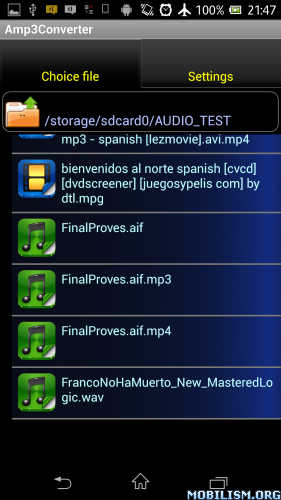 Mp3 and Audio extract encoder