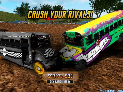 School Bus Demolition Derby v1.0.1[Mod Money] Apk