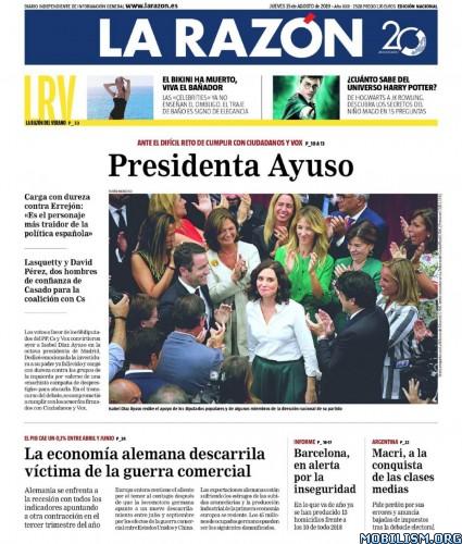 La Razón – 15 August, 2019 [ESP]