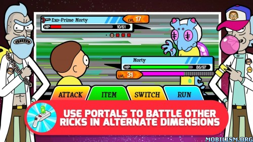 Pocket Mortys v1.6.1 [Mod Money] Apk