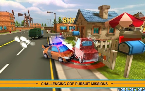 Blocky Cop Pursuit Terrorist v1.3 (Mod Money/Fuel/Nitro) Apk