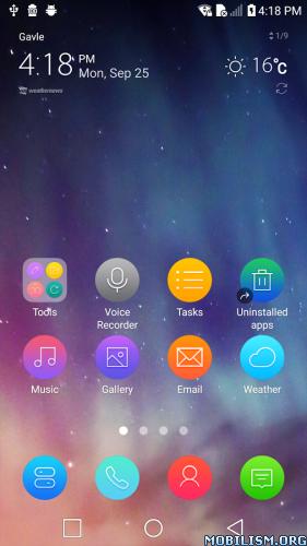Direct descargar telecharger Download Aurora Theme for LG G6 G5 V30