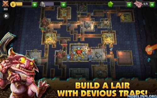 Dungeon Keeper v1.6.83 [Mod Jevels] Apk