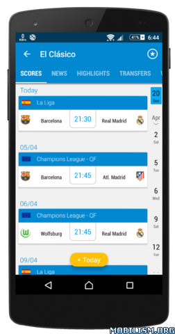 Football Live Scores 365Scores v3.7.5 [Subscribed] Apk