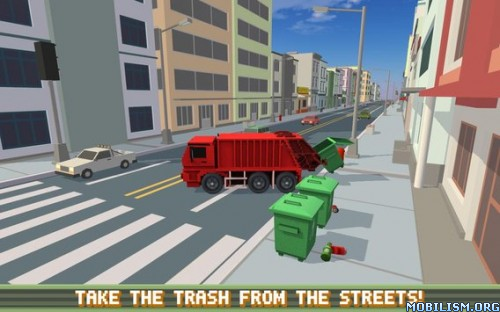 Blocky Garbage Truck SIM PRO v1.0 (Mod Money) Apk