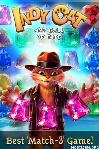 Indy Cat Match 3 v1.2.09 {Mod} Apk