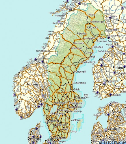 Garmin TOPO Sweden V PRO - Sweden map for garmin